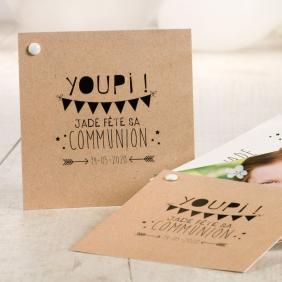 Carte invitation communion youpi