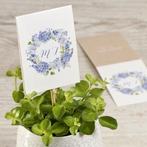 Etiquette champetre lilas