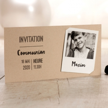 Invitation communion avec polaroïD