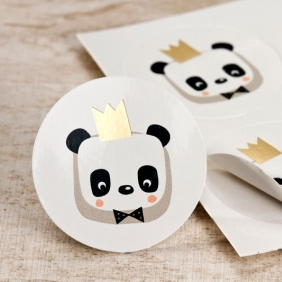 Sticker panda chic