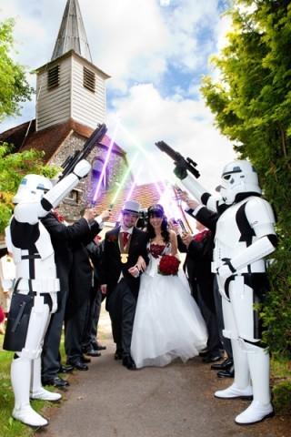 star wars trouwfeest organiseren