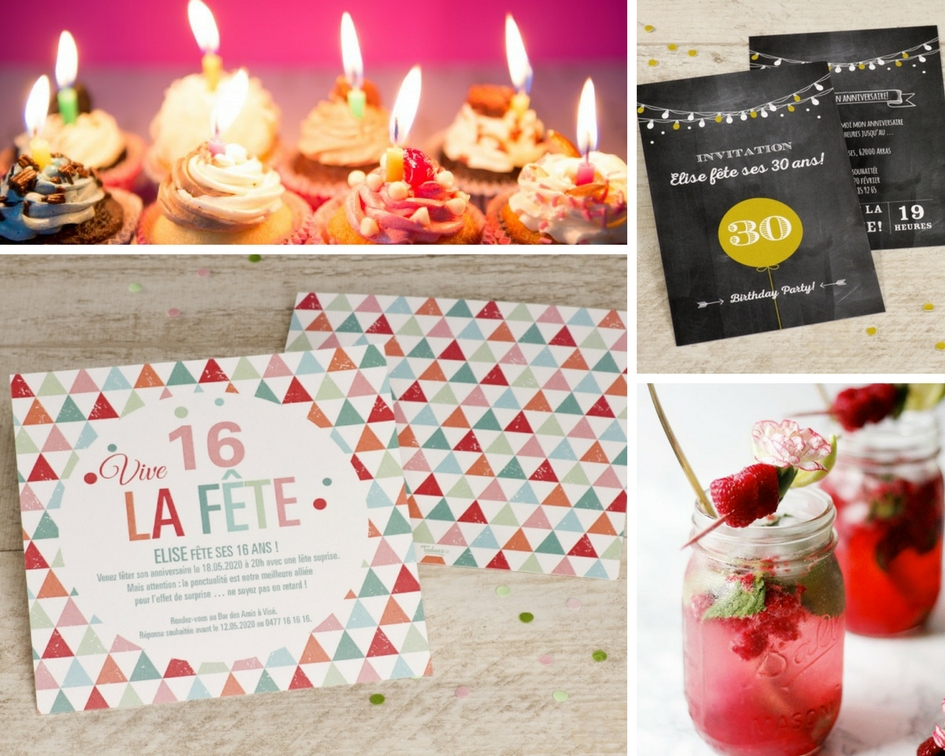 invitations fête