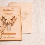 carte de voeux en bois