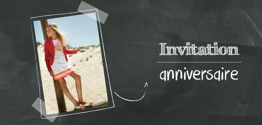 invitation anniversaire enfant original avec photo. Black Bedroom Furniture Sets. Home Design Ideas