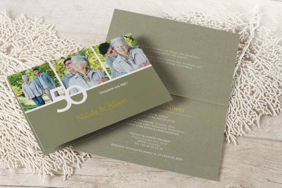 invitation anniversaire mariage photo