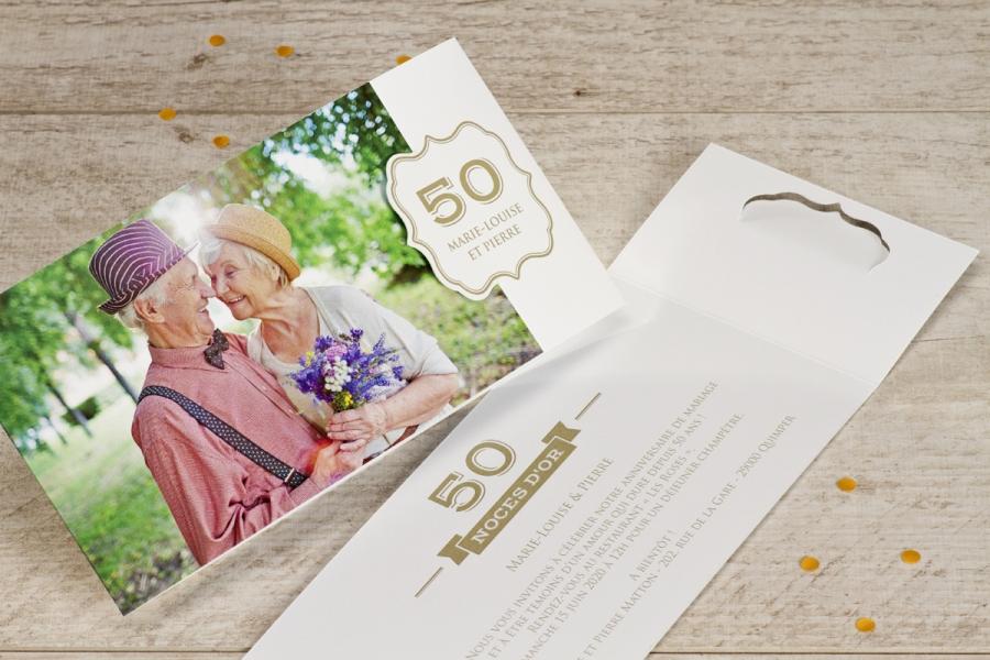 Une Invitation En Or Pour Votre Anniversaire De Mariage