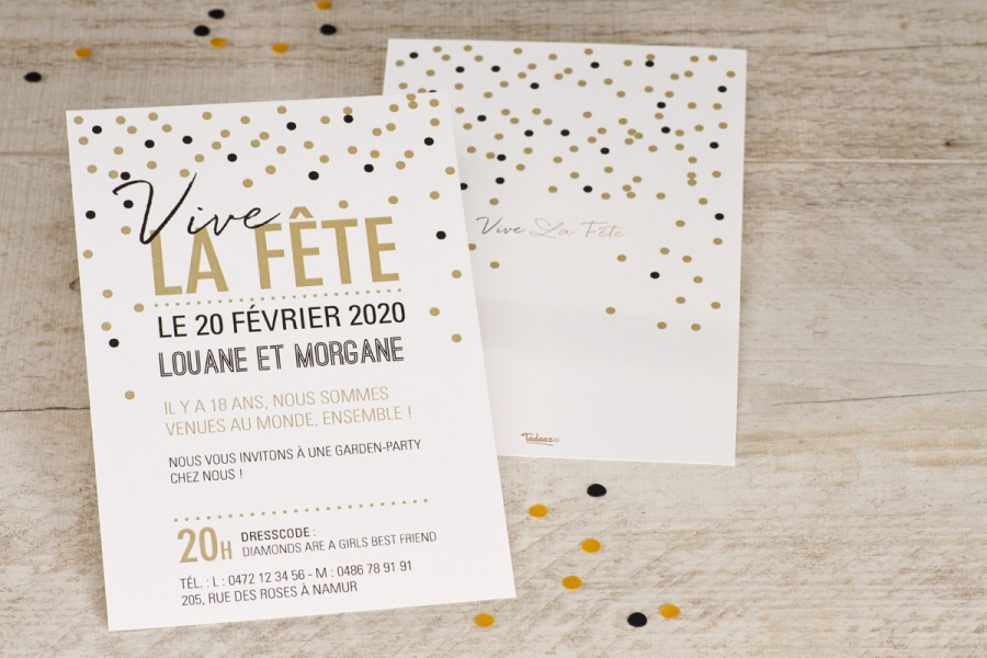une invitation d anniversaire pour tout ge. Black Bedroom Furniture Sets. Home Design Ideas