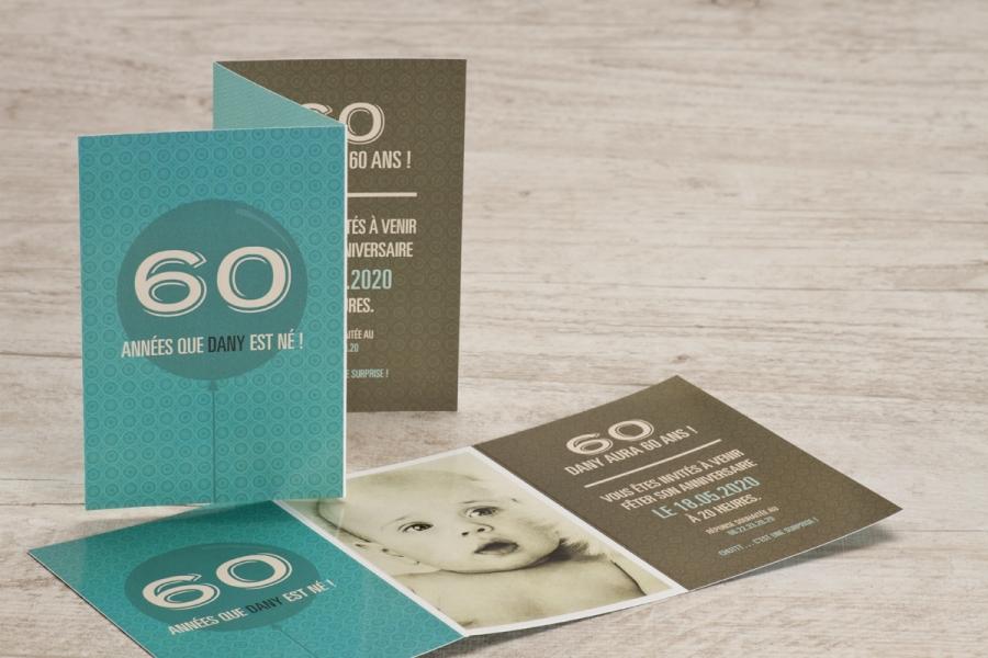 invitation d'anniversaire 60 ans