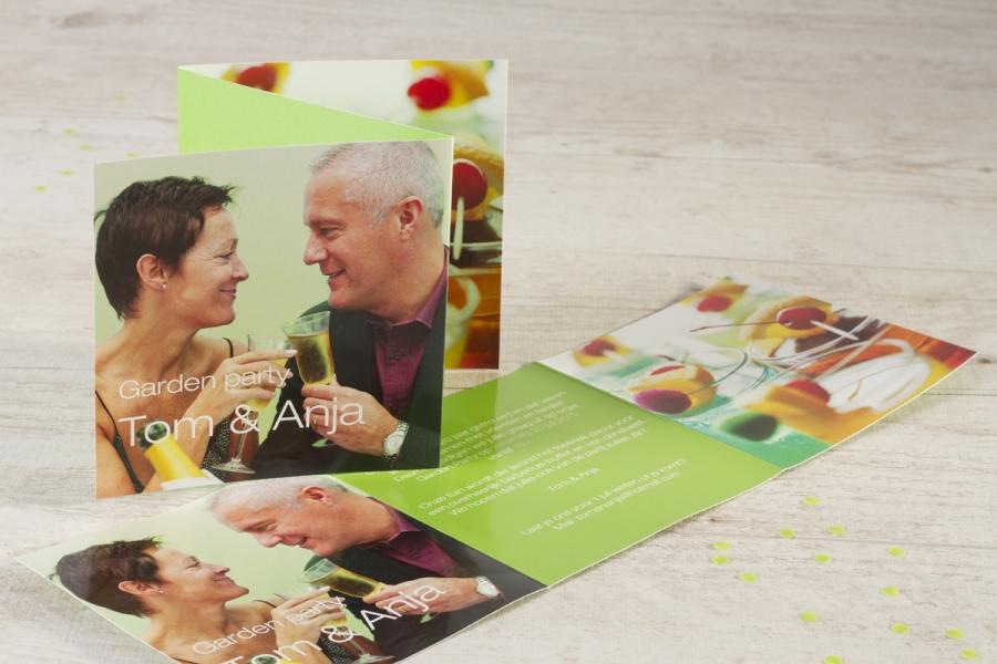 uitnodiging 40 jaar getrouwd groen