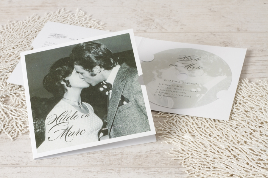 carte invitation jubilé pochette cd