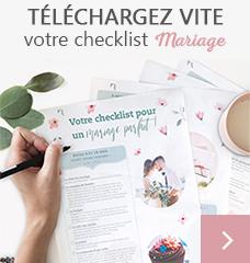 checklist mariage tadaaz