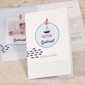 invitation baptême petit matelot