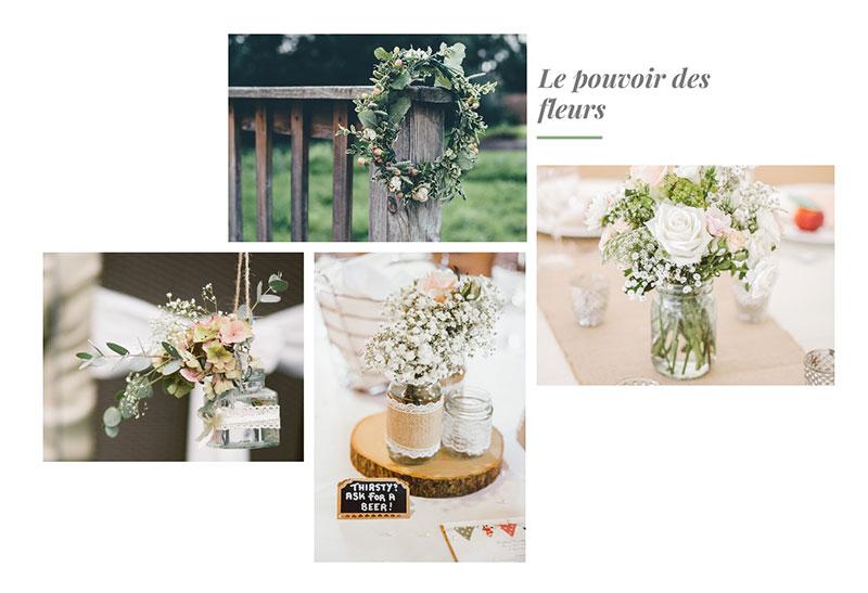 decoration fleur mariage champetre. Black Bedroom Furniture Sets. Home Design Ideas