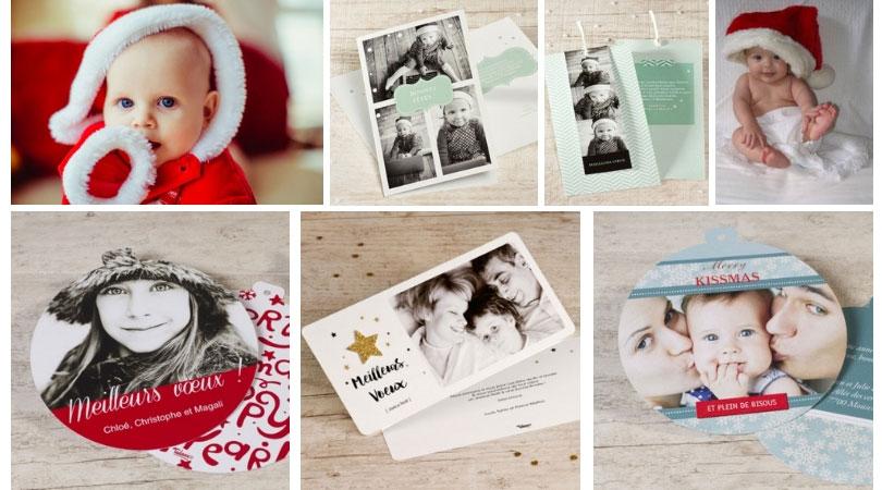 Carte de voeux pour premier Noël de bébé