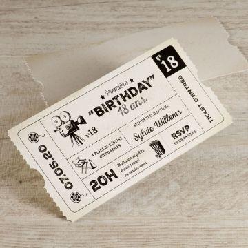 invitation anniversaire ado