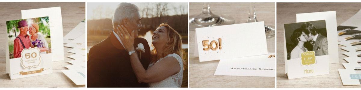 décoration de table 50 ans de mariage
