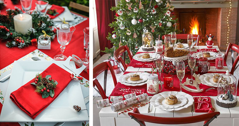 déco table de noël traditionnelle