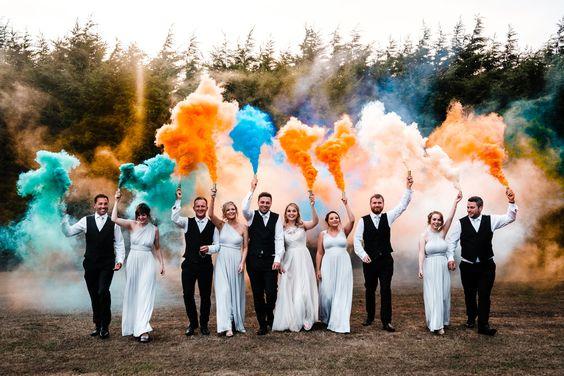 wedding smoke