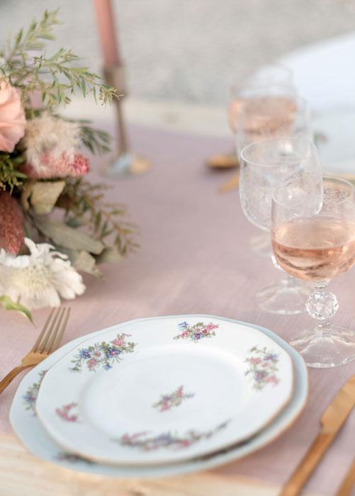 decoration table mariage romantique
