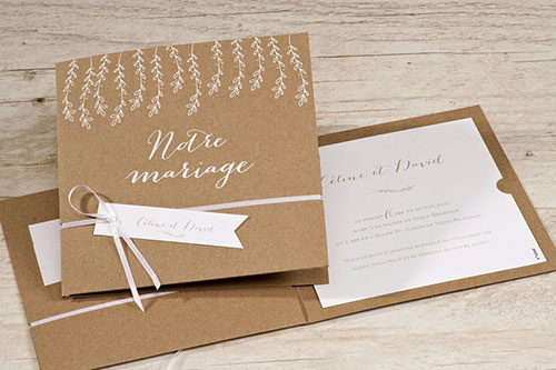 invitation mariage effet nature