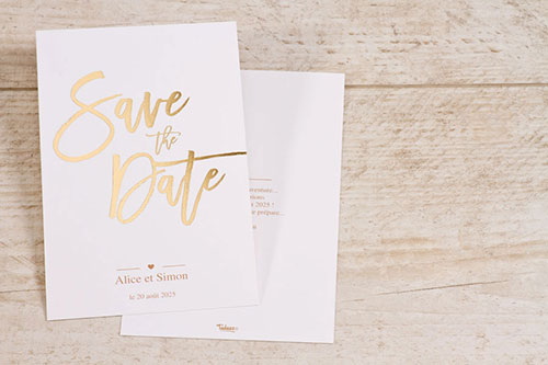 save the date chic doré