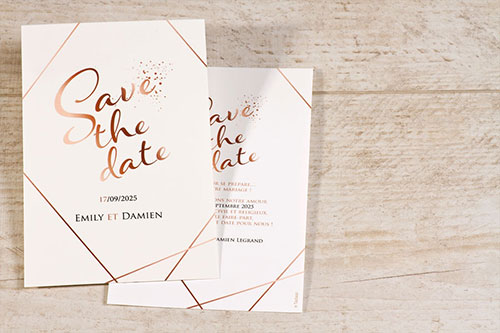 save the date mariage chic