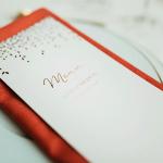 menu de mariage personnalisé