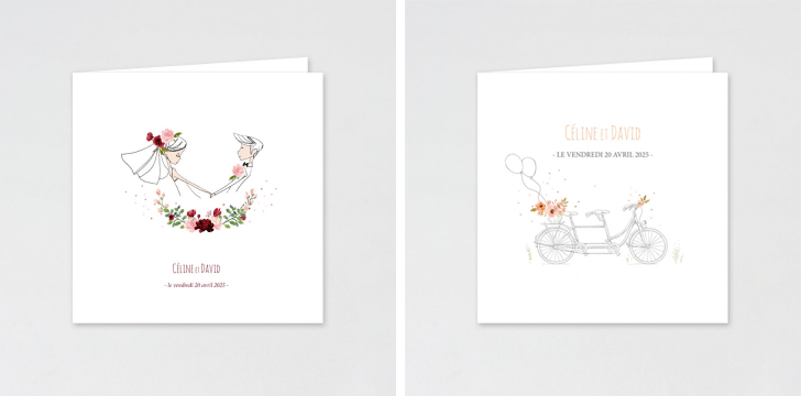 faire part de mariage illustrations