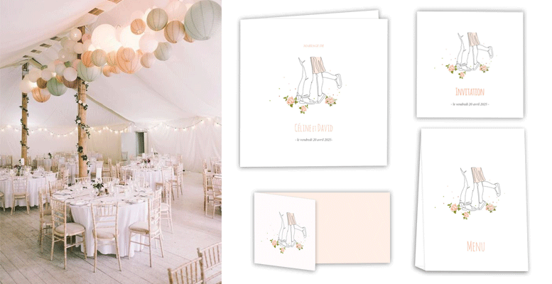 papeterie mariage illustrations