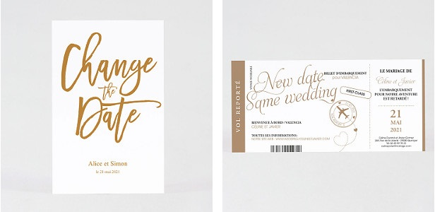 carte change the date mariage