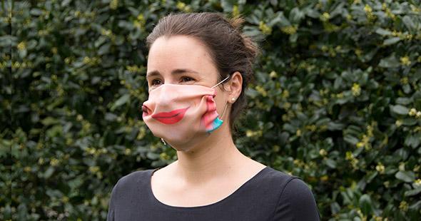 masque en tissu pour anniversaire