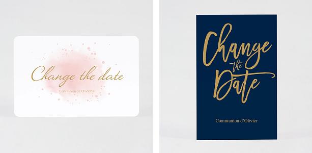 change the date communion