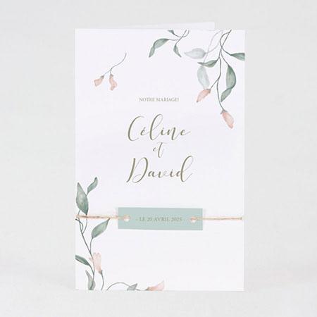 invitation mariage fleurs aquarelle