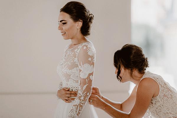 preparation de la mariée