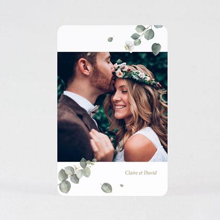 carte remerciement mariage eucalyptus