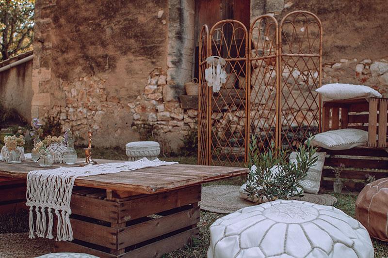 decoration mariage provence