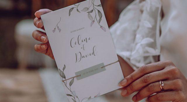 faire part mariage fleuri