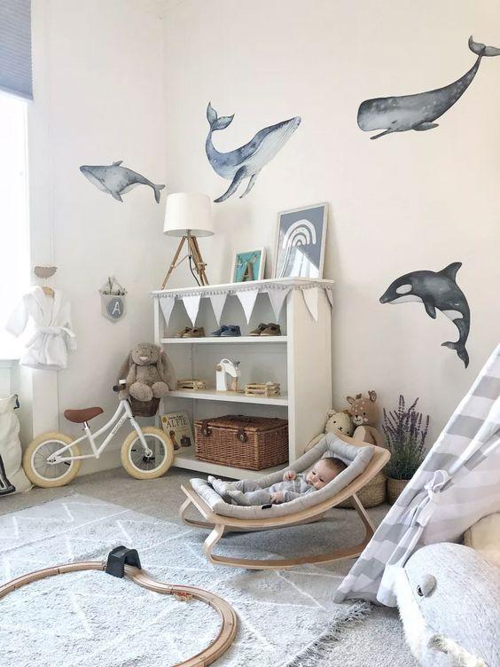 déco chambre bébé thème marin